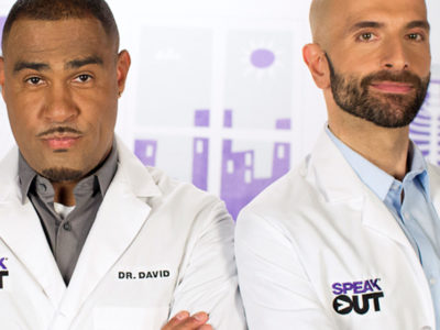 2 male HIV doctors with their arms crossed