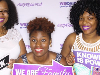 picture of african american women from the essence fest photo booth