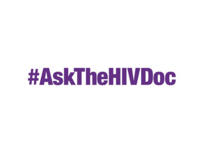 Purple #AskTheHIVDoc logo