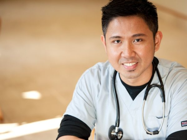 Asian doctor smiling