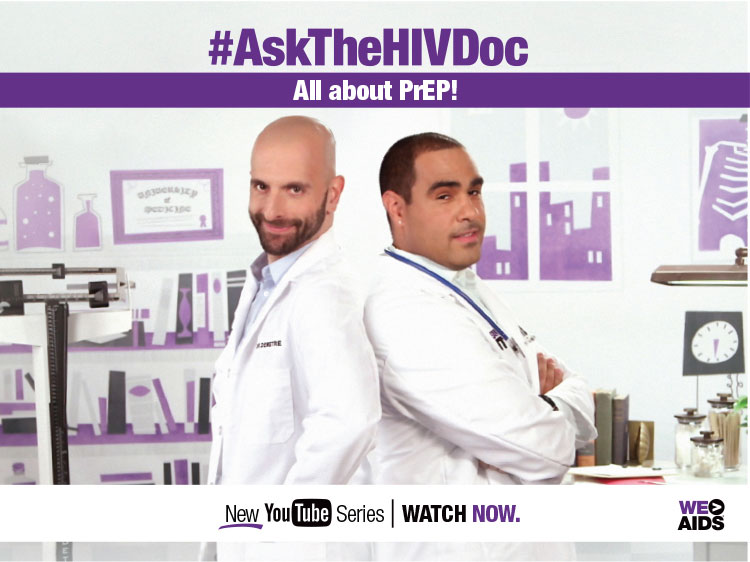 Two doctors posing for the #AskTheHIVDoc all about prep youtube series