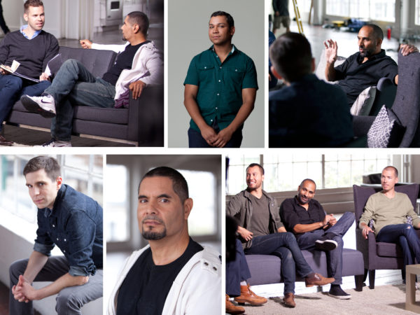 Collage of men featured in the Speak Out campaign from Greater Than AIDS
