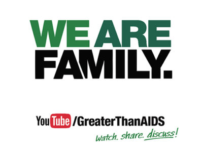 We are family youtube/GreaterThanAIDS. watch share discuss!