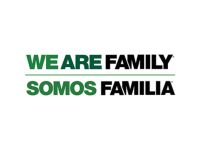 We Are Family, Somos Familia green and black logo