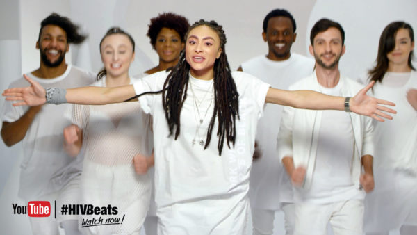 Video still of Amber's Closet performing for #HIVBeats