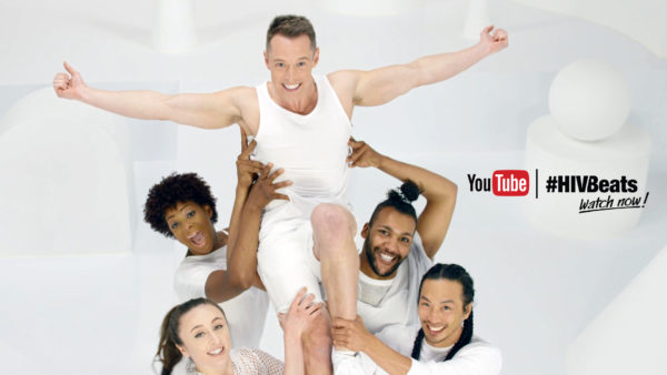 Video still of Davey Wavey performing for #HIVBeats