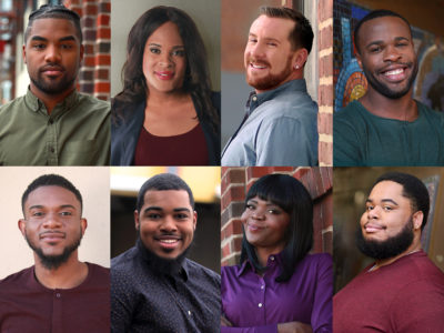 Collage of eight people who are featured in Powered by PrEP
