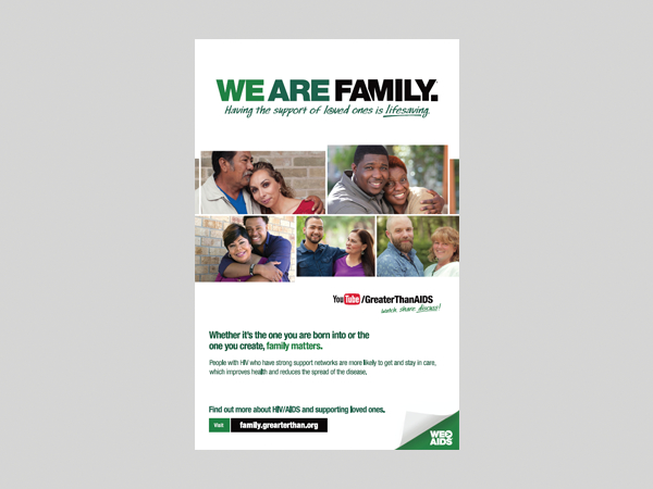We Are Family Campaign Poster