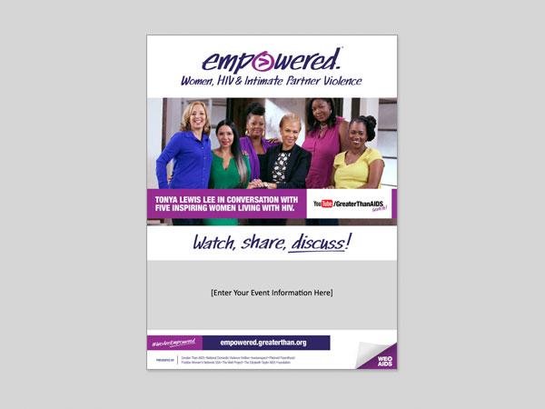 Empowered: Women, HIV & Intimate Partner Violence customizable flyer