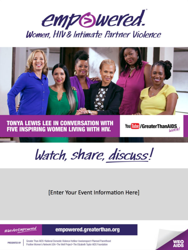 Empowered: Women, HIV & Intimate Partner Violence customizable flyer