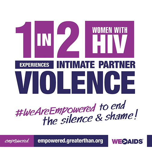 1 in 2 Women With HIV Experiences Intimate Partner Violence graphic