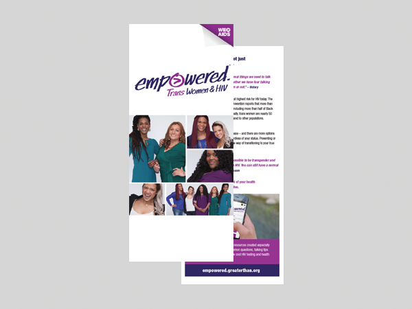 Empowered: Trans Women & HIV brochures