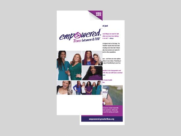 Empowered: Trans Women & HIV brochure