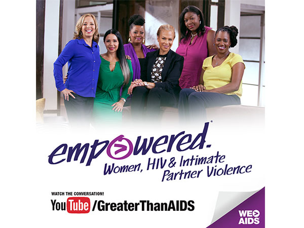 Empowered. Women, HIV & Intimate Partner Violence poster