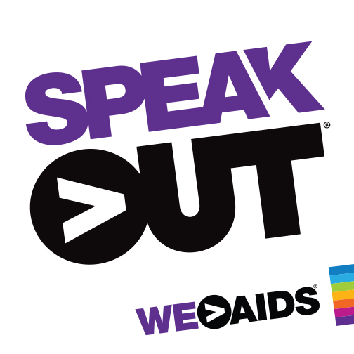 Speak Out purple and black campaign logo