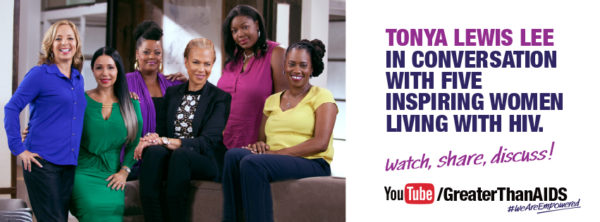 Tonya Lewis Lee in Conversation with Five Inspiring Women Living With HIV graphic