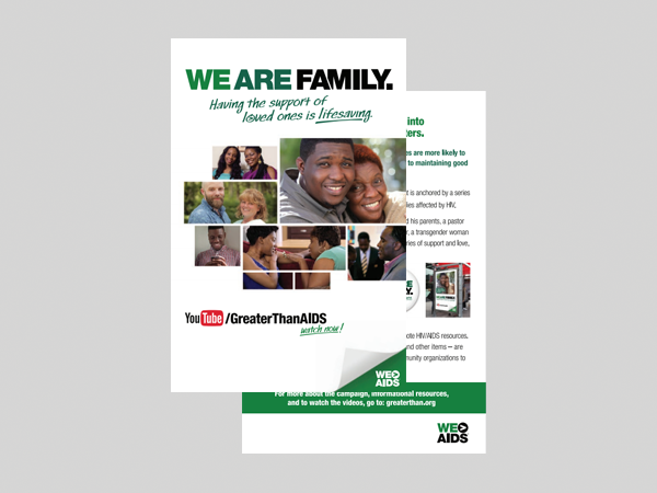 We Are Family Campaign Postcard