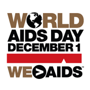 World AIDS Day December 1 WE > AIDS graphic