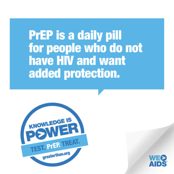 Knowledge is Power campaign graphic promoting PrEP