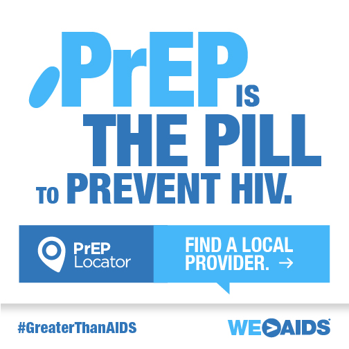 """Let's Talk About PrEP! """"PrEP is the pill to prevent HIV"""" Graphic"""