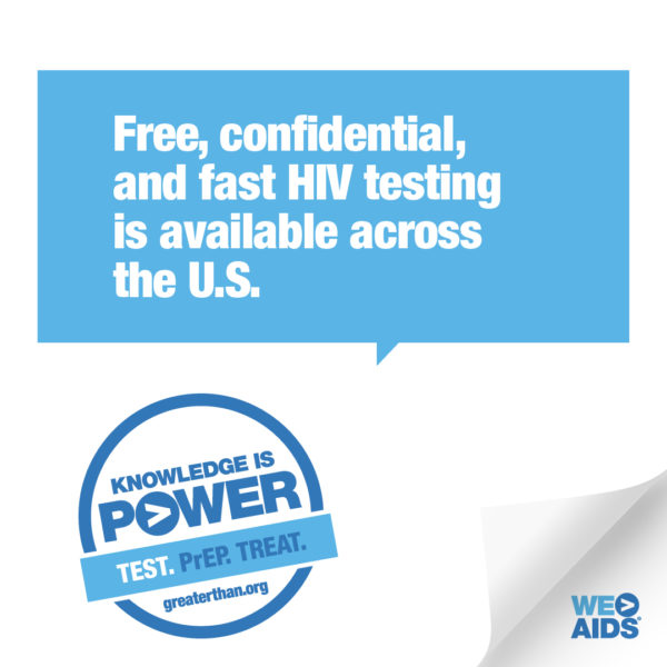 Knowledge is Power campaign graphic promoting HIV testing