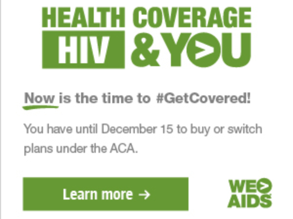 Health Coverage, HIV & YOU graphic