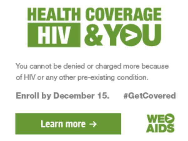Health Coverage, HIV & YOU graphic (300x250)