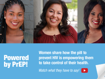 Collage of women from the Let's Talk About PrEP Campaign YouTube promotion