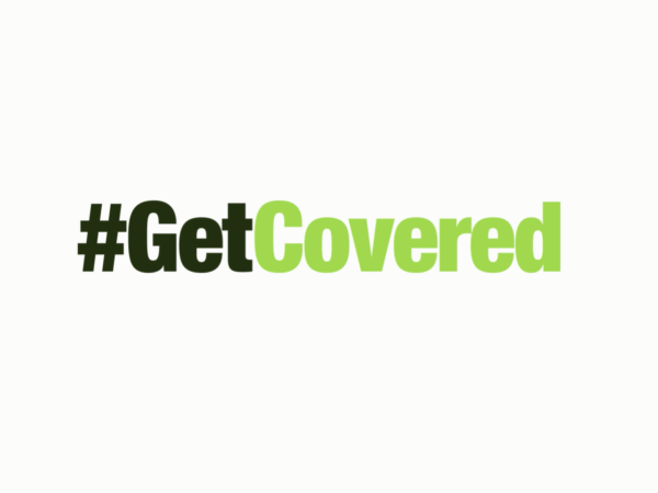 #GetCovered green campaign logo