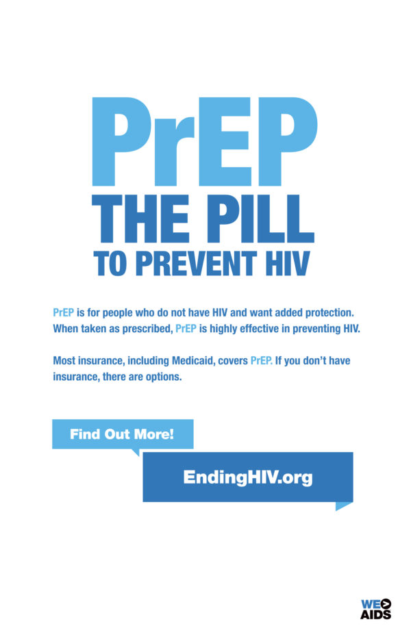 PrEP the Pill to Prevent HIV poster