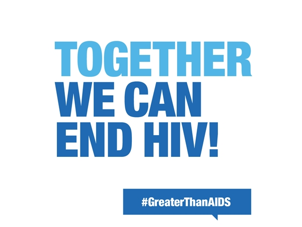 Together We Can End HIV! #GreaterThanAIDS