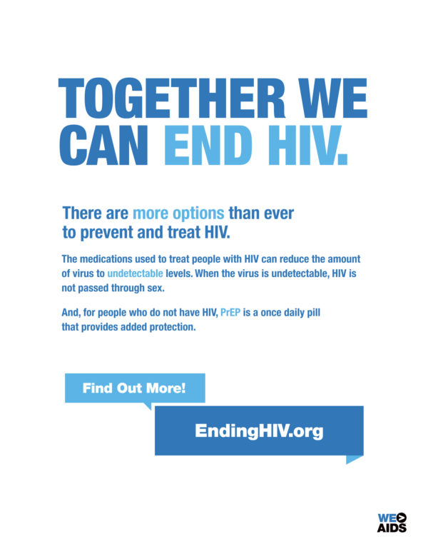Together We Can End HIV poster