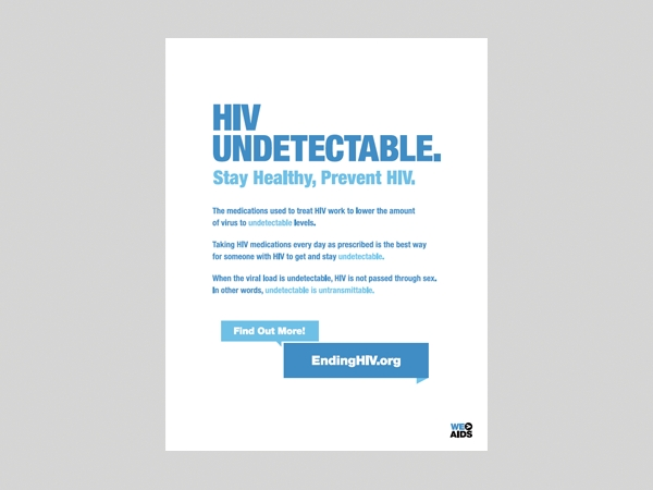 HIV Undetectable. Stay Healthy, Prevent HIV poster