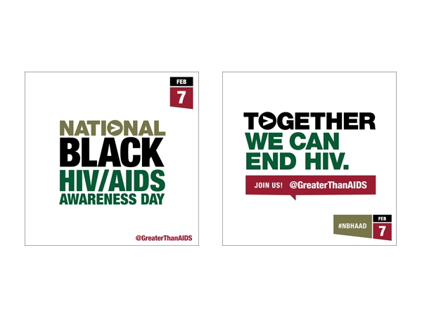 National Black HIV/AIDS Awareness Day Feb 7 @GreaterThanAIDS graphic