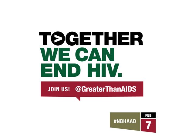 Together we can end HIV. #NBHAAD graphic