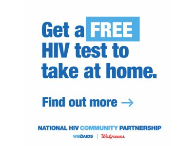 Get a FREE HIV test to take at home.